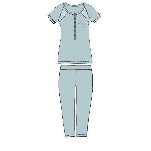 LORDS & LILIES Pyjama, K/M, misty blue