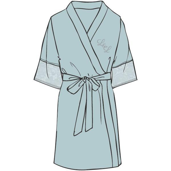 LORDS & LILIES Kimono badjas, misty blue