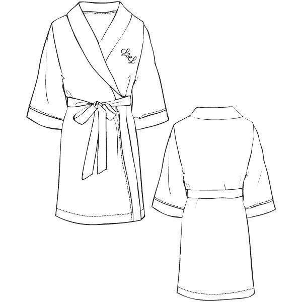 LORDS & LILIES Kimono badjas, optical white