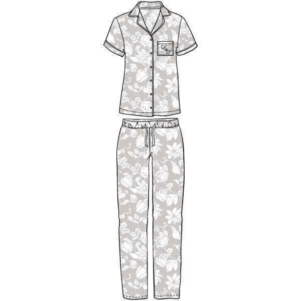 LORDS & LILIES Pyjama, doorknoop, K/M, flower glac