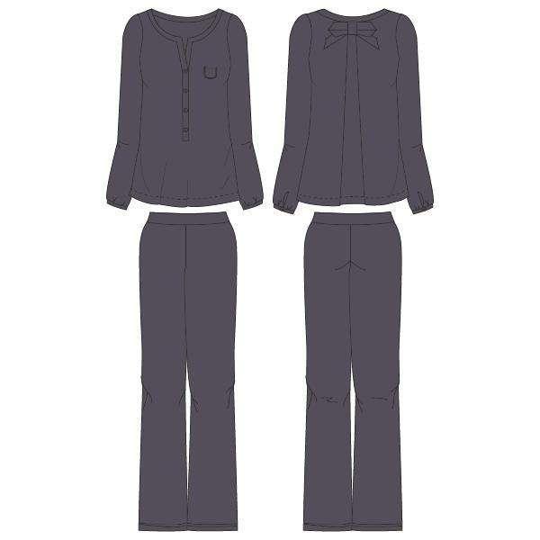 LORDS & LILIES Dames pyjama, staal grijs