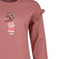 Woody Meisjes-Dames pyjama, blushroze
