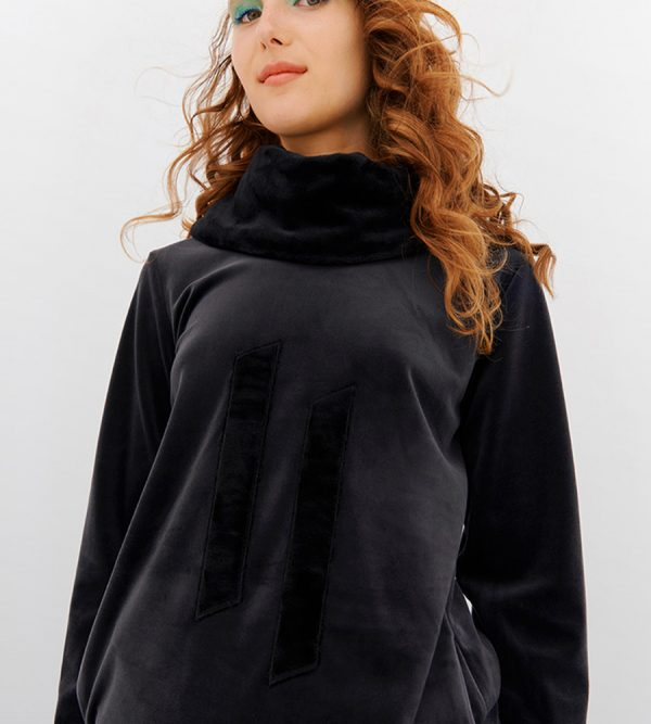 LORDS & LILIES Dames sweater en broek, anthraciet