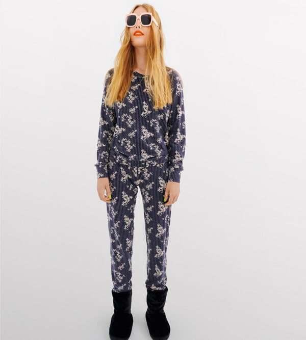 LORDS & LILIES Dames pyjama, donkergrijs