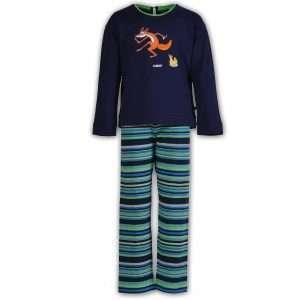 Woody Meisjes-Dames pyjama, marine blauw