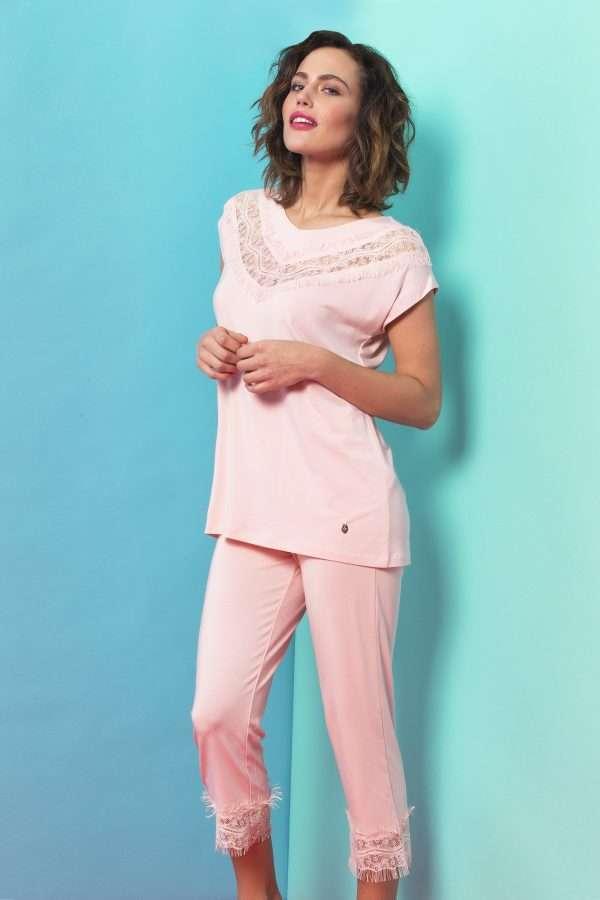 LORDS & LILIES Dames pyjama, lichtroze
