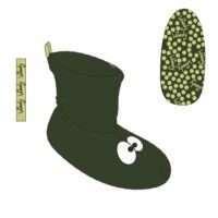Woody Unisex pantoffels, donkergroen maat 30-34