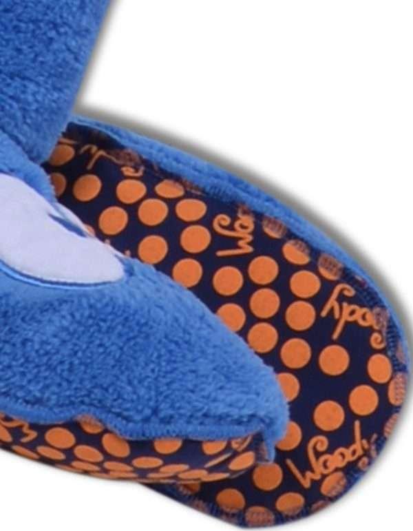Woody Unisex pantoffels, blauw maat 26-30
