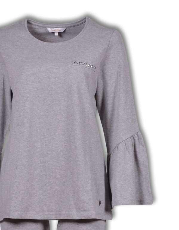 LORDS & LILIES Dames pyjama, grijs melange