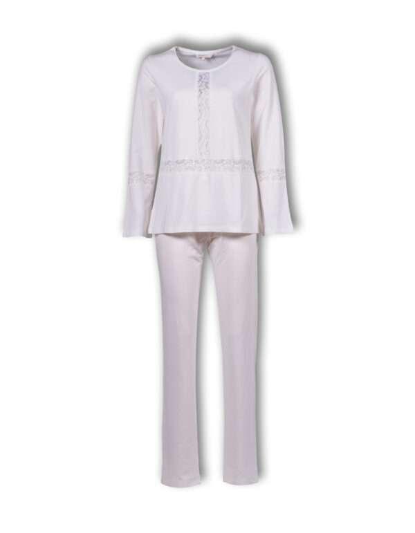 LORDS & LILIES Dames pyjama, egret
