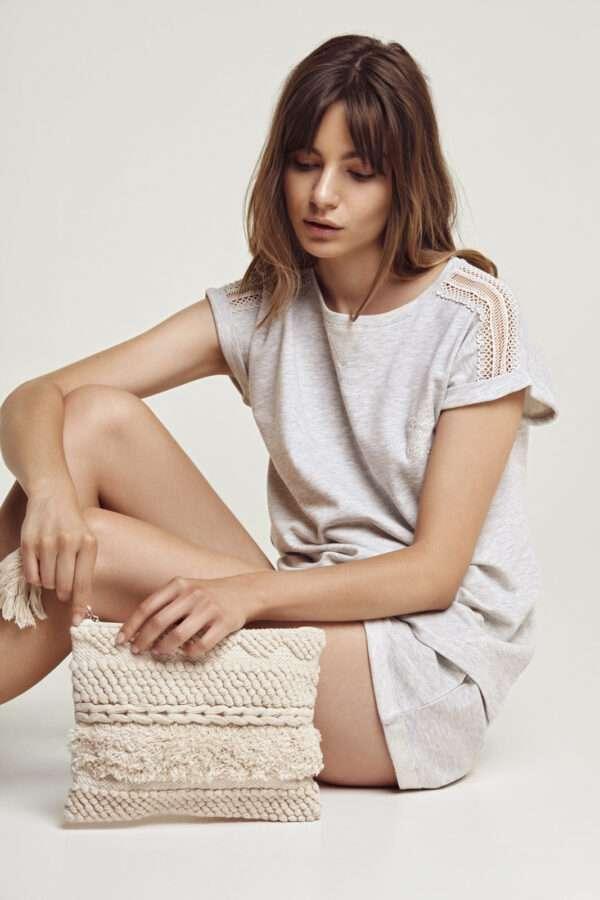 LORDS & LILIES Dames sweater en broek, licht grijs