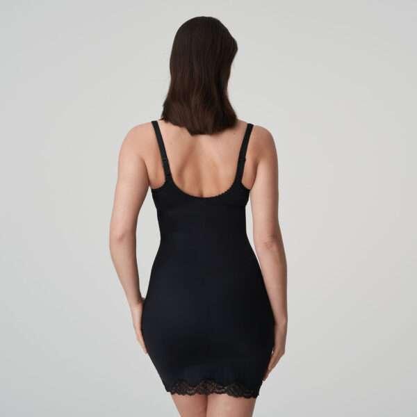 COUTURE zwart corrigerend jurkje met slip