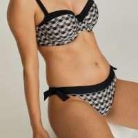 ASSILAH black sand bikini heupslip met koordjes