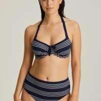 MOGADOR saffier blauw bikini beugel bh met plooitjes