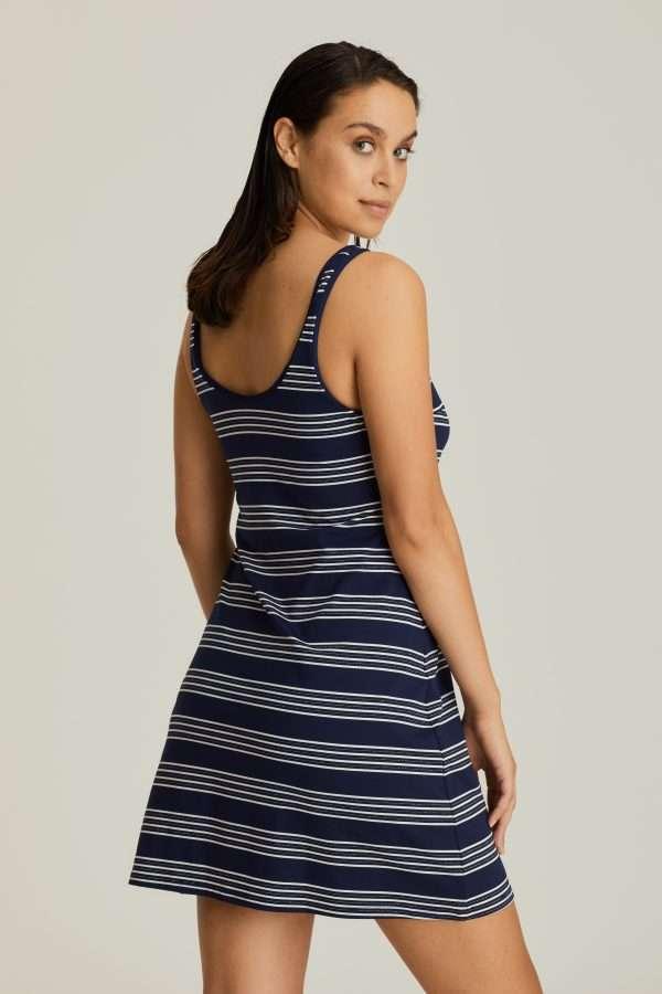 MOGADOR saffier blauw badmode kort jurkje