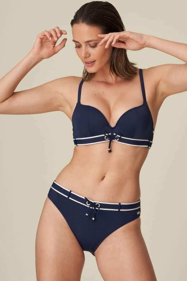 ANGELINE Water Blue push-up bikini met mousse