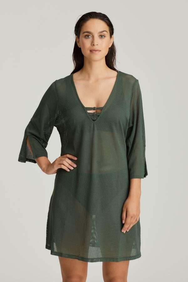 HOLIDAY dark olive badmode caftan