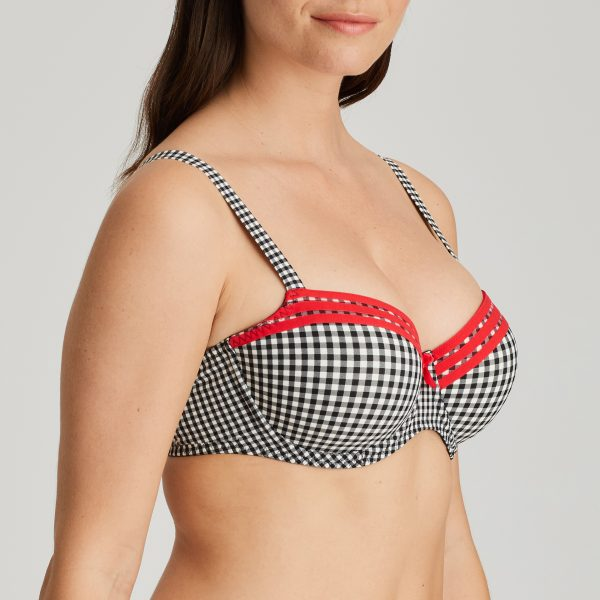 GENTLELADY black check balconnet bh met mousse cups