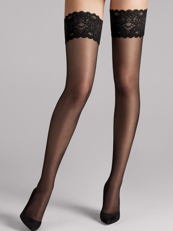 Wolford Kousen Satin Touch Stay Up