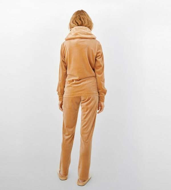 LORDS & LILIES Dames sweater en broek, camelbruin