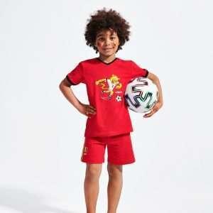 Woody pyjamas - top V-neck short sleeves - short p